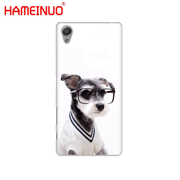 HAMEINUO Cute Dog Cat Cover Phone Case For Sony Xperia Z2 Z3 Z4 Z5 Mini Plus Aqua M4 M5 E4 E5 E6 C4 C5