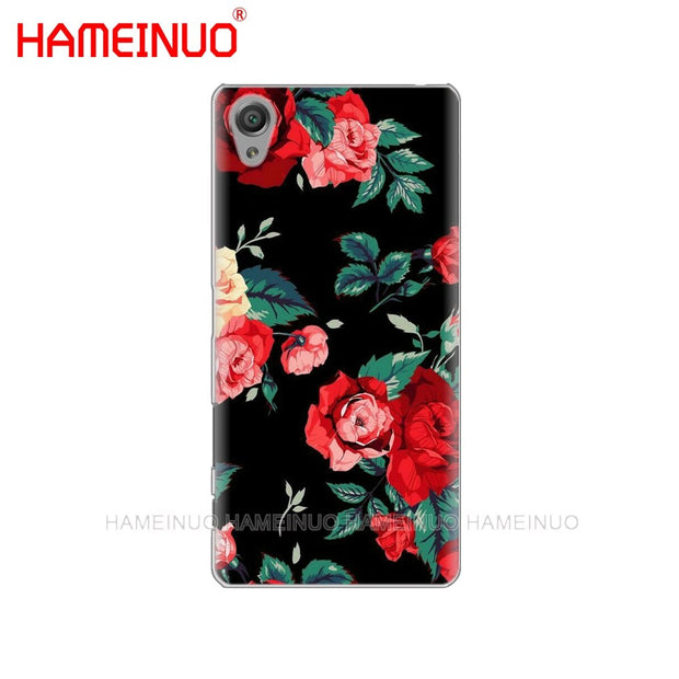HAMEINUO Flower Pink Peonies Cover Phone Case For Sony Xperia Z2 Z3 Z4 Z5 Mini Plus Aqua M4 M5 E4 E5 E6 C4 C5