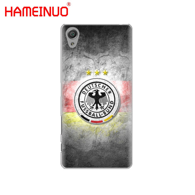 HAMEINUO Germany Soccer Cover Phone Case For Sony Xperia Z2 Z3 Z4 Z5 Mini Plus Aqua M4 M5 E4 E5 E6 C4 C5