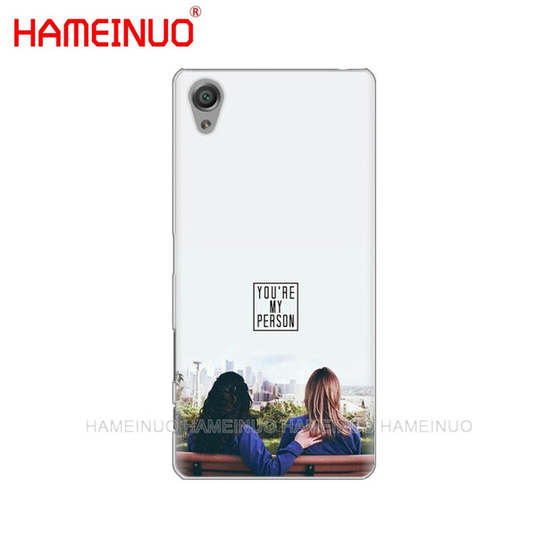 HAMEINUO Greys Anatomy Cover Phone Case For Sony Xperia Z2 Z3 Z4 Z5 Mini Plus Aqua M4 M5 E4 E5 E6 C4 C5