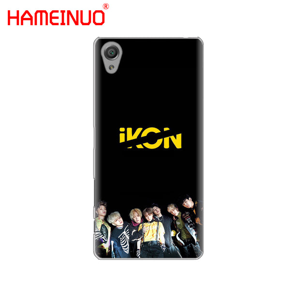 HAMEINUO IKON Kpop Cover Phone Case For Sony Xperia Z2 Z3 Z4 Z5 Mini Plus Aqua M4 M5 E4 E5 E6 C4 C5