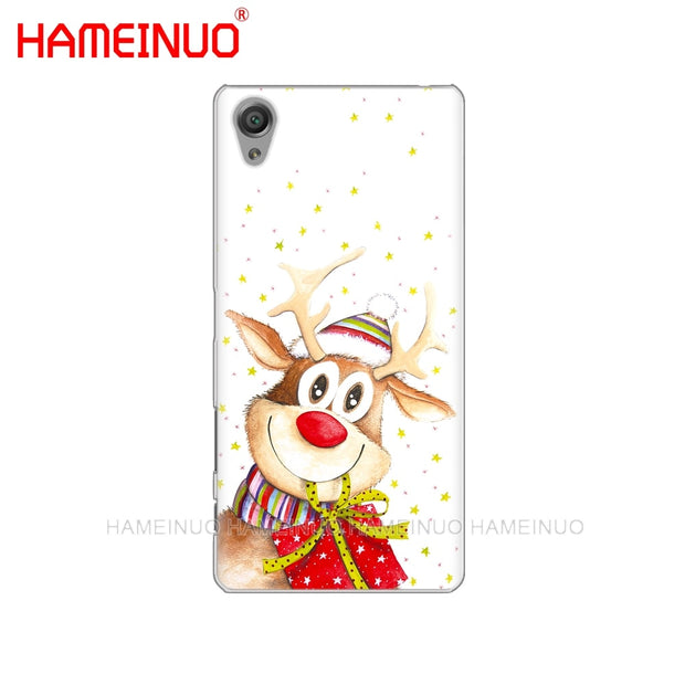 HAMEINUO Merry Christmas Santa Claus Deer Cover Phone Case For Sony Xperia Z2 Z3 Z4 Z5 Mini Plus Aqua M4 M5 E4 E5 E6 C4 C5