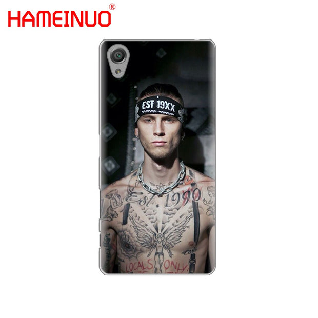 HAMEINUO Mgk Machine Gun Kelly Lace Up Cover Phone Case For Sony Xperia Z2 Z3 Z4 Z5 Mini Plus Aqua M4 M5 E4 E5 E6 C4 C5