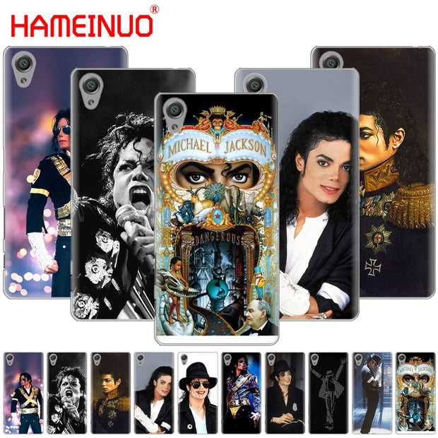HAMEINUO Michael Jackson Cover Phone Case For Sony Xperia Z2 Z3 Z4 Z5 Mini Plus Aqua M4 M5 E4 E5 E6 C4 C5
