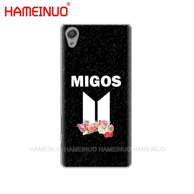 HAMEINUO Migos Coque Cover Phone Case For Sony Xperia Z2 Z3 Z4 Z5 Mini Plus Aqua M4 M5 E4 E5 E6 C4 C5