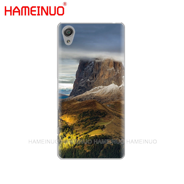 HAMEINUO Mountain Forest Clouds Cover Phone Case For Sony Xperia Z2 Z3 Z4 Z5 Mini Plus Aqua M4 M5 E4 E5 E6 C4 C5