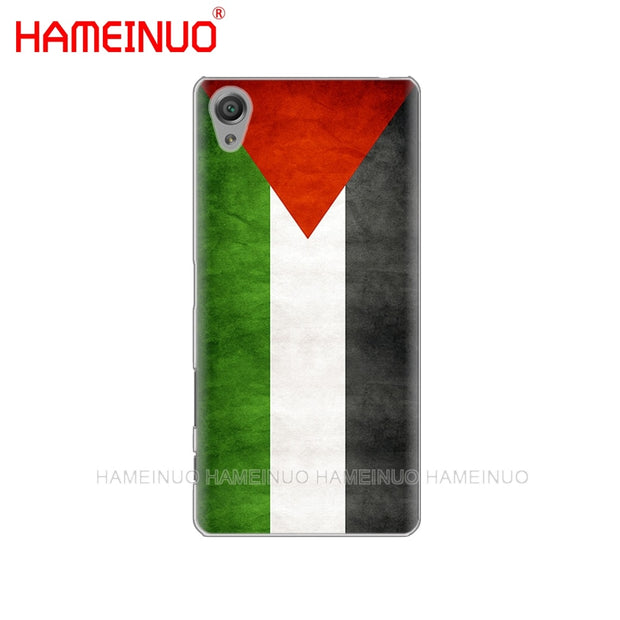 HAMEINUO Palestinian Flags Cover Phone Case For Sony Xperia Z2 Z3 Z4 Z5 Mini Plus Aqua M4 M5 E4 E5 E6 C4 C5