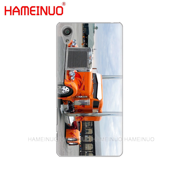 HAMEINUO Peterbilt Trucks Cover Phone Case For Sony Xperia Z2 Z3 Z4 Z5 Mini Plus Aqua M4 M5 E4 E5 E6 C4 C5