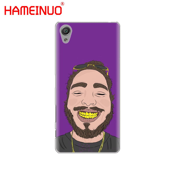 HAMEINUO Post Malone Funny Cover Phone Case For Sony Xperia Z2 Z3 Z4 Z5 Mini Plus Aqua M4 M5 E4 E5 E6 C4 C5