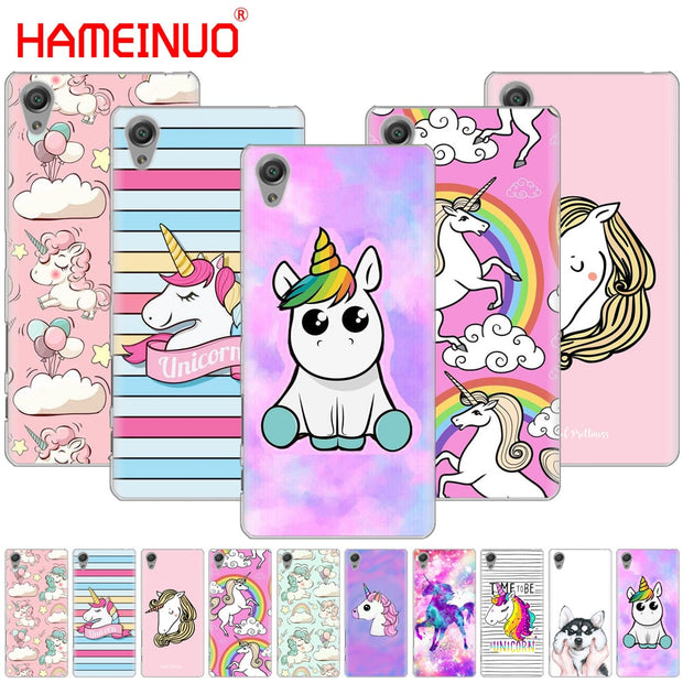 HAMEINUO Rainbow Unicorn Cover Phone Case For Sony Xperia Z2 Z3 Z4 Z5 Mini Plus Aqua M4 M5 E4 E5 E6 C4 C5