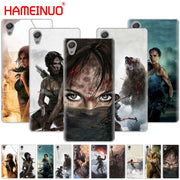 HAMEINUO Rise Of The Tomb Raider Cover Phone Case For Sony Xperia Z2 Z3 Z4 Z5 Mini Plus Aqua M4 M5 E4 E5 E6 C4 C5