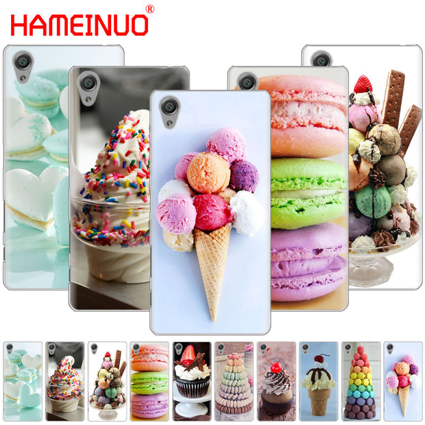 HAMEINUO Summer Ice Cream Cover Phone Case For Sony Xperia Z2 Z3 Z4 Z5 Mini Plus Aqua M4 M5 E4 E5 E6 C4 C5