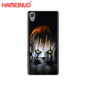 HAMEINUO The Clown Horror IT Cover Phone Case For Sony Xperia Z2 Z3 Z4 Z5 Mini Plus Aqua M4 M5 E4 E5 E6 C4 C5