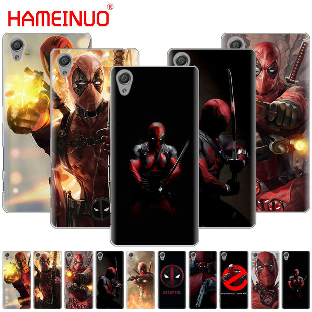 HAMEINUO The Deadpool Superhero Cover Phone Case For Sony Xperia Z2 Z3 Z4 Z5 Mini Plus Aqua M4 M5 E4 E5 E6 C4 C5