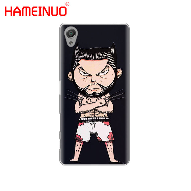 HAMEINUO Wolverine Marvel Cover Phone Case For Sony Xperia Z2 Z3 Z4 Z5 Mini Plus Aqua M4 M5 E4 E5 E6 C4 C5