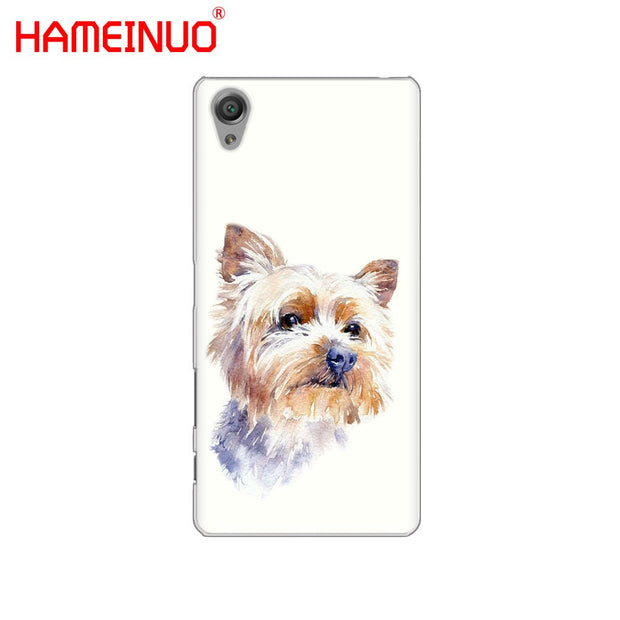 HAMEINUO Yorkshire Terrier Dog Cover Phone Case For Sony Xperia Z2 Z3 Z4 Z5 Mini Plus Aqua M4 M5 E4 E5 E6 C4 C5