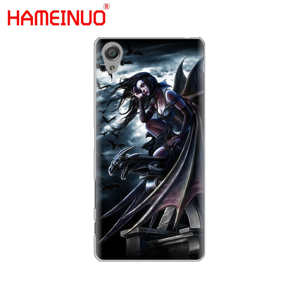 HAMEINUO Angel Wings Cover Phone Case For Sony Xperia Z2 Z3 Z4 Z5 Mini Plus Aqua M4 M5 E4 E5 E6 C4 C5