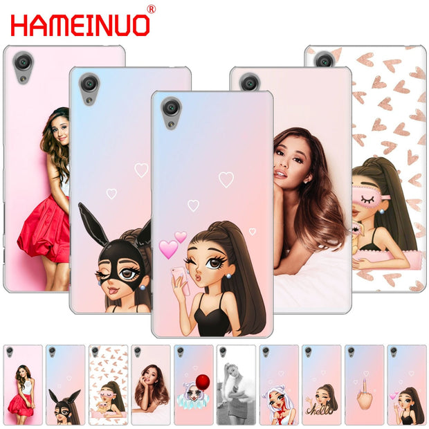 HAMEINUO Beautiful Ariana Grande Cover Phone Case For Sony Xperia Z2 Z3 Z4 Z5 Mini Plus Aqua M4 M5 E4 E5 E6 C4 C5