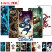 HAMEINUO Chinese Dragon Design Cover Phone Case For Sony Xperia Z2 Z3 Z4 Z5 Mini Plus Aqua M4 M5 E4 E5 E6 C4 C5