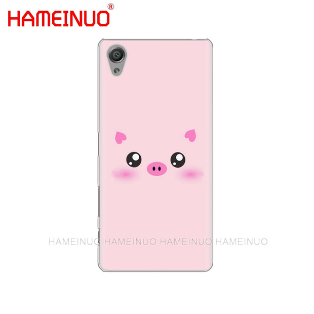 HAMEINUO Cute Pink Cat Dog Fish Simple Design Cover Phone Case For Sony Xperia Z2 Z3 Z4 Z5 Mini Plus Aqua M4 M5 E4 E5 E6 C4 C5