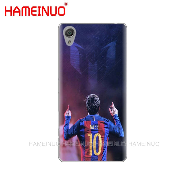 HAMEINUO Footballer Lionel Messi Cover Phone Case For Sony Xperia Z2 Z3 Z4 Z5 Mini Plus Aqua M4 M5 E4 E5 E6 C4 C5
