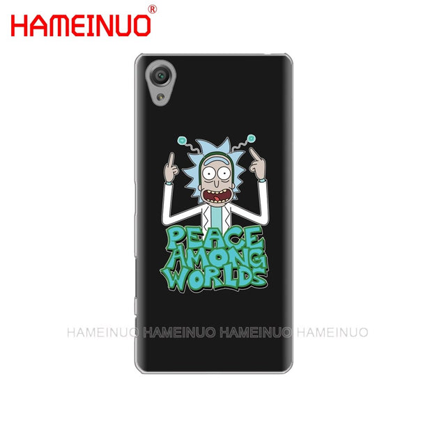 HAMEINUO Rick And Morty Cover Phone Case For Sony Xperia Z2 Z3 Z4 Z5 Mini Plus Aqua M4 M5 E4 E5 E6 C4 C5