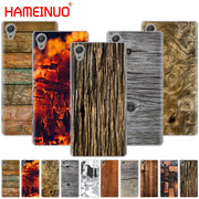 HAMEINUO Texture Wood Style Cover Phone Case For Sony Xperia Z2 Z3 Z4 Z5 Mini Plus Aqua M4 M5 E4 E5 E6 C4 C5