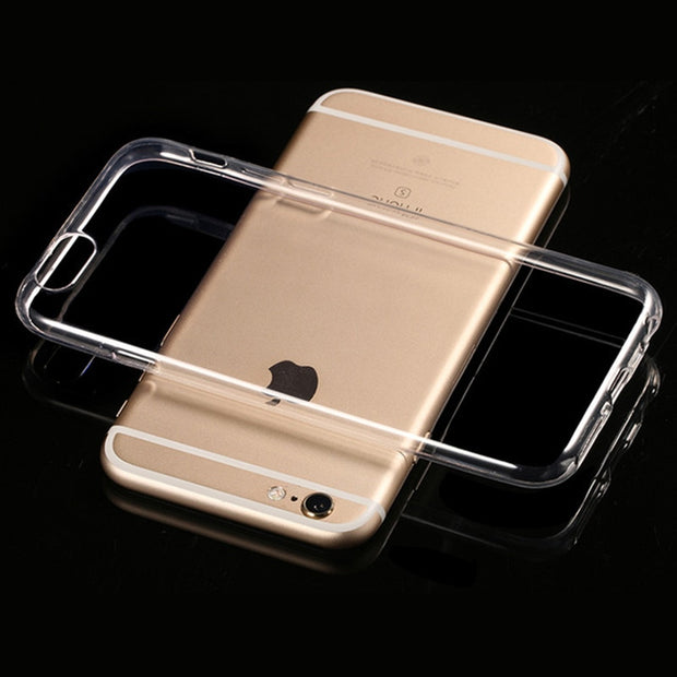 HD Clear Crystal Soft TPU Rubber Shockproof Ultra Thin Silicone Phone Cover Case For IPhone 6 7 6S Plus 5 5s SE #30