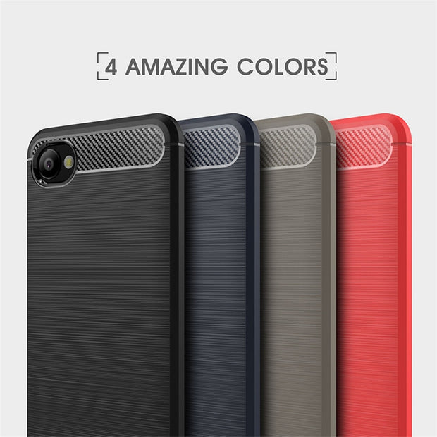 HEMASOLY Case For HTC Desire 12 Case Soft TPU For HTC Desire 12 Plus Silicone Case Carbon Fiber Brushed Phone Shell