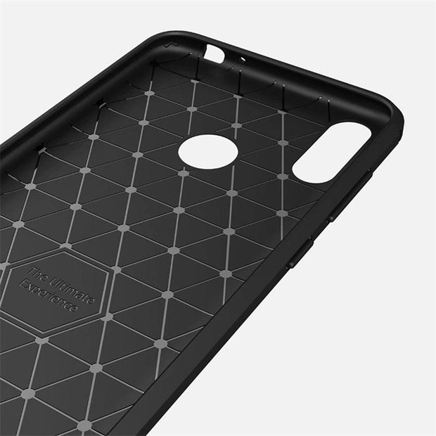 HEMASOLY Case For Huawei Honor 8C Case Soft TPU For Huawei Honor 8C Silicone Case Carbon Fiber Brushed Shockproof Shell