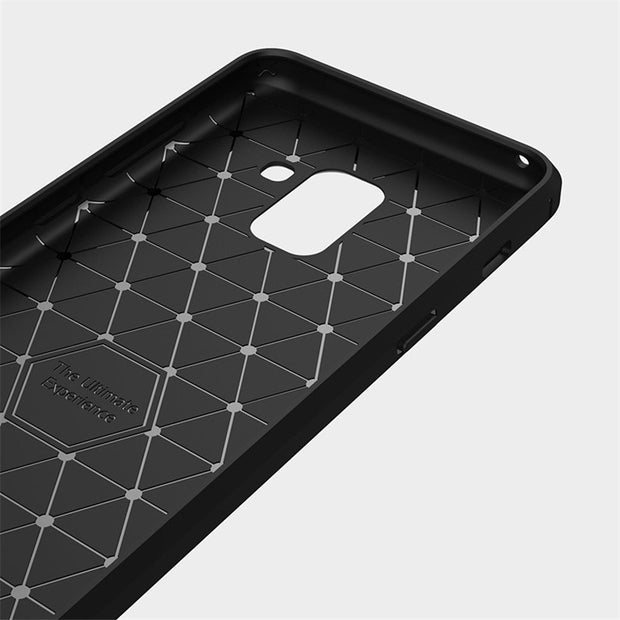 HEMASOLY Case For Samsung A8 2018 Case Soft TPU For Samsung A3 A5 A7 2017 Silicone Case A8 Plus 2018 Carbon Fiber Brushed Shell
