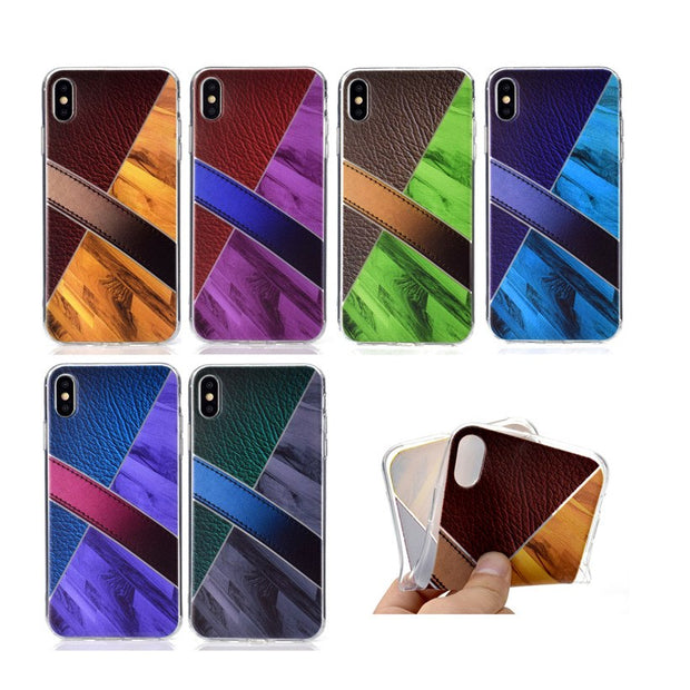 HEMASOLY Case For IPhone XS Max XR X 6 6s 7 8 Plus SE Silicone Case For IPhone XR Case Luxury Retro Marblr Soft TPU Back Cover