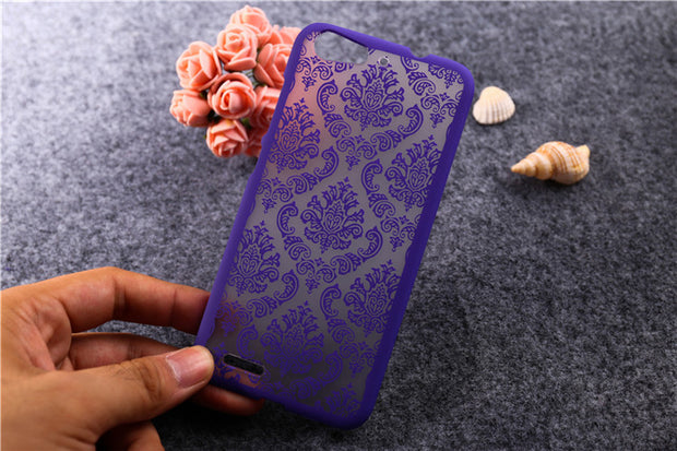"HOT Hollow Out Flower Printing Case For ZTE Blade V6 D6 X7 Cover 5.0"" Plastic Hard Cover For ZTE V6 Protective Phone Case T007"