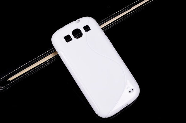 HOT Selling Cute Fashion Style S Line TPU Soft Gel Rubber Matte Cover Case For Samsung Galaxy S3 I9300 S Iii 3 Phone Cover T008