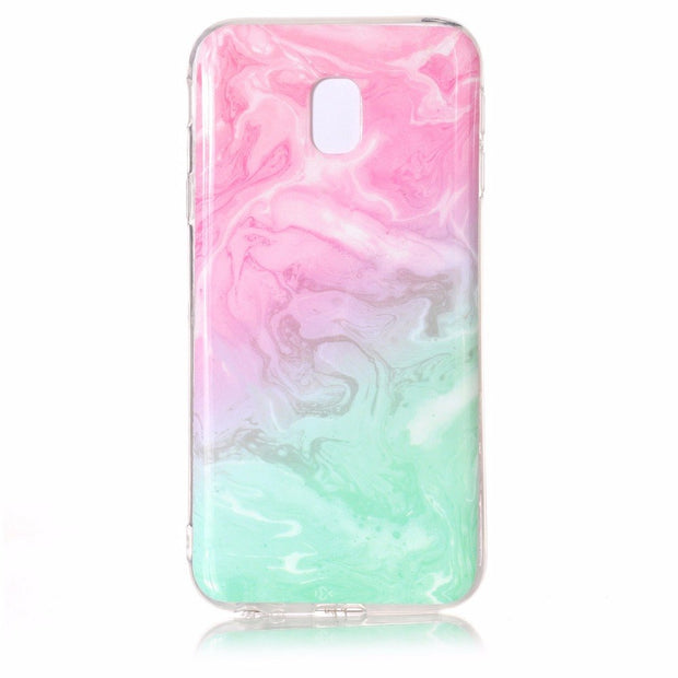 HYYGEDeal Phone Cases Marble Texture Mandala Flower Soft TPU Silicone Case For Samsung Galaxy J3 Pro 2017 J330 Europe Version