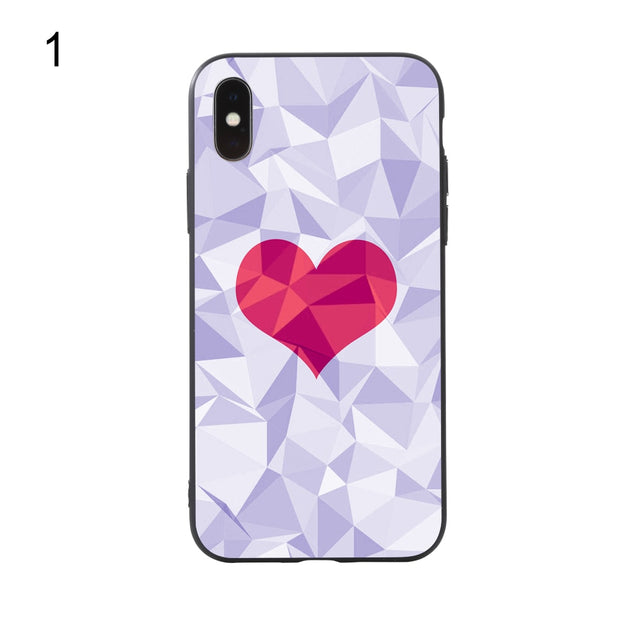 Heart Pattern Mobile Phone Plastic Protective Case Cover For IPhone Xs/X/8/7