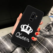 Heart And Queen Patterned Silicon Case For Samsung Galaxy S8 S9 Plus A5 2017 A8 J4 J6 Plus J3 J4 J6 J7 J8 2018 Back Cover Case
