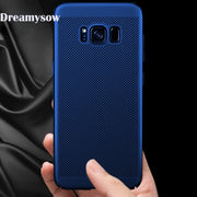 Heat Dissipation Breathable Case For Samsung Galaxy Note 8 9 J4 J6 J8 J3 A6 A8 Plus A7 2018 S8 S9 Plus S6 S7 Edge Back Cover