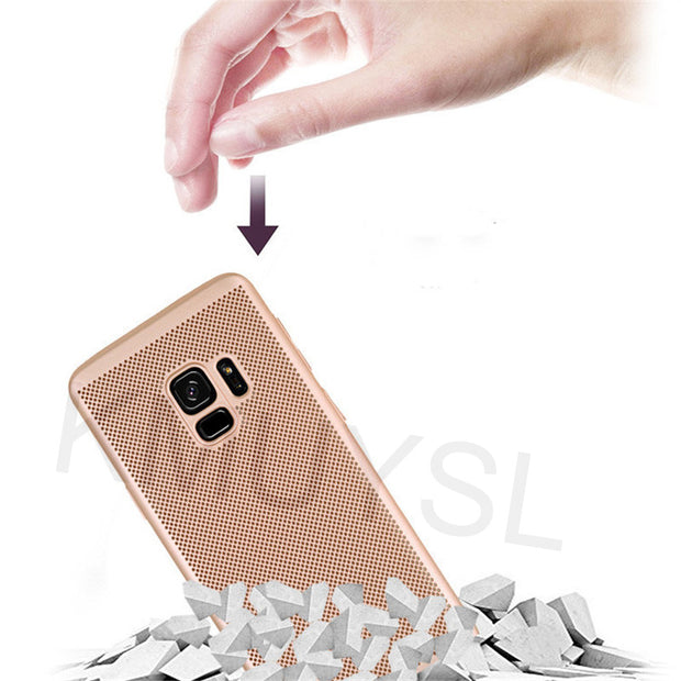 Heat Dissipation Case For Samsung Galaxy A6 A8 J4 J6 2018 S8 S9 Plus S7 S6 Edge J3 J5 J7 Prime A3 A5 A7 2017 2016 PC Hard Cover