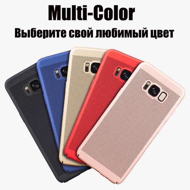 Heat Dissipation Hard PC Case Cover For Samsung Galaxy A3 A5 A7 2017 S8 Plus S7 S6 Edge J7 Plus C8 2017 J7 J3 J6 J4 A6 Plus 2018