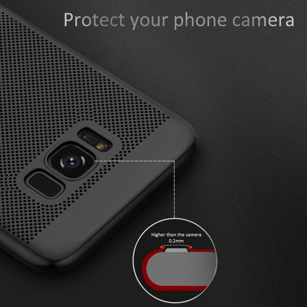 Heat Dissipation Phone Cases For Samsung Galaxy S8 Plus S7 S6 Edge J6 J7 J7 J8 A7 A5 2018 A3 2017 J7 J5 J3 EU C8 C7 Duo Cover
