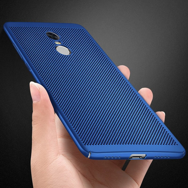 Heat Dissipation Phone Case For Xiaomi Redmi 5 Plus Note 4 5A 4X Pro 4A Mi Note3 Pocophone F1 5X 6X Hard PC Back Cover Cases