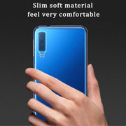 High Clear TPU Soft Anti-Scratch Protective Phone Case Cover For Samsung A7 2018