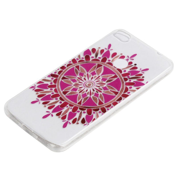 High Fashion Red Pink Chinese Flower Soft Ultrathin Tpu Anti-skid Cover Fundas Case For Huawei P8 Lite 2017 Huawei Honor 8 Lite