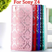 High Quality Fashion Printed Hollow Out Flower Styles Pattern Cover For Sony Xperia Z4 Z3+ Plus E6553 E6533 Phone Back Case T007