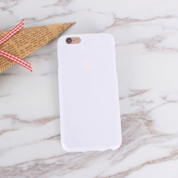 High Quality Soft Silicon Phone Bags For Iphone 5S SE Case Pure Plain Color Coque For Iphone 6 6S 7 8 Plus Cute Girly Business