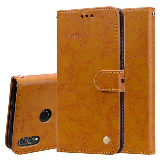 Honor 8X Case Leather Vintage Wallet Cases For Huawei Honor 8X Case Flip Magnetic Phone Case For Coque Honor 8X Cover Card Slots