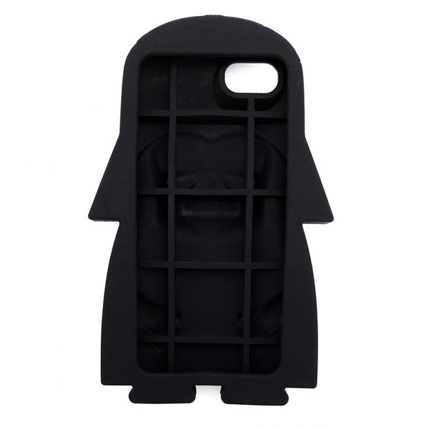 Hot 3D Star Wars Black Darth Vader Cartoon Silicone Phone Cases Cover For IPhone 8 8Plus 7 6 6S Plus 5 5G 5S 4 4S Back Cover