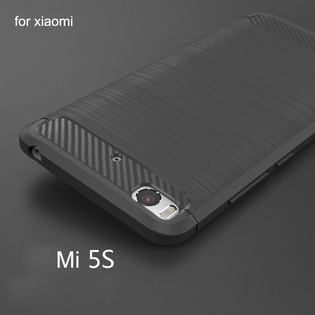 Hot Sale Grade Carbon Fiber Soft Silicon Brushed TPU Case For Xiaomi Mi 5s (5.15 Inch) Cover Capa Para Coque Fundas