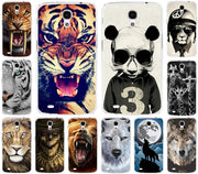 Hot Selling Tiger Lion Wolf Rhinoceros Cat Animal PC Painted Case For Samsung Galaxy Mega 6.3 I9200 9200 Phone Cover Case Capa